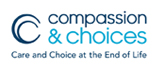 Logo for our sponsor Compassion and Choices.